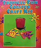 Tropical Fish coaster craft kit 3 per pack