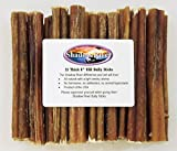 25 Pack 6 Inch Thick Shadow River Bully Sticks - Product of the USA