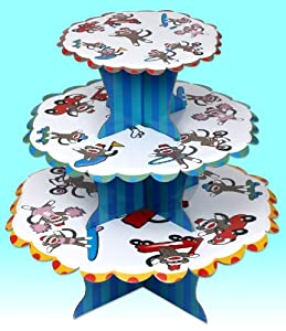 Sock Monkey Cupcake Stand