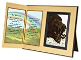 God Whispered Poem Pet Memorial Keepsake Picture Frame and Pet Loss Sympathy Gift, Includes custom photo editing option