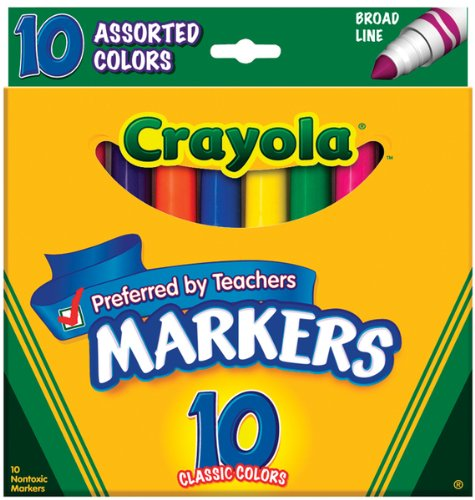 Crayola Broad Line Markers 10-Pack: Assorted Colors