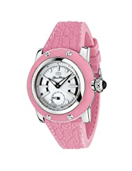 Glam Rock Women's GR11404 Palm Beach Collection Stainless Steel and Pink Rubber Watch