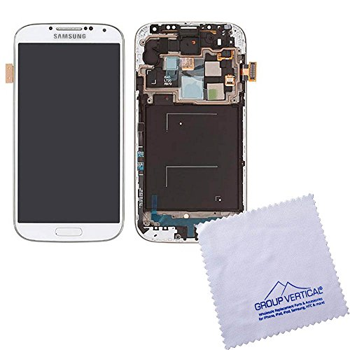 White Frost Complete Lcd+Digitizer Assembly With Frame For Samsung Galaxy S4 I545