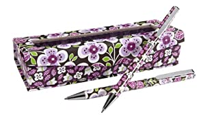 Vera Bradley Perfect Match Pen and Pencil Set in Plum Petals
