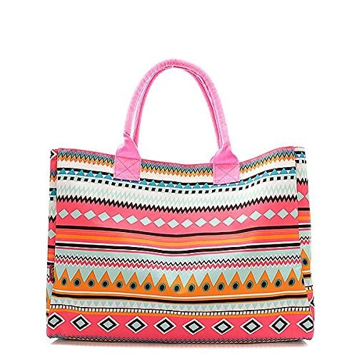 Handbag Inc Aztec Stripe Canvas Large Tote Bag Multi & Pink