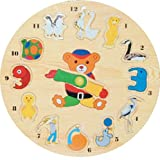 Puzzled Wooden Clock Small - Animals Wooden Toys