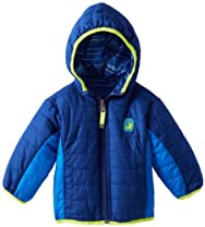 Rugged Bear Baby-Boys 12-24M Navy Blue Infant Reversible Midweight Jacket