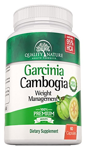 100% Pure Garcinia Cambogia Extract - Extra Strength - Natural Weight Loss Supplements - Carb Blocker and Appetite Suppressant - All Natural Diet Pills for Women & Men - 60 Veggie Capsules - Premium Quality Ingredients Guarantee By Quality Nature