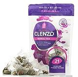 Detox Teatox - Clenzo Dieta 7-21 Giorni per Corpo Intero, Purificazione Colon & Fegato - 11 Ingredienti Vegetali Naturali Inclusa Garcinia Cambogia - 21 bustine a Piramide Biodegradabili a Foglia Sfusa - No Effetto Lassativo