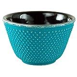 Turquoise Hobnail Tetsubin Tea Cup