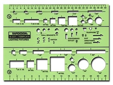 -Chartpak Electrical Drafting And Design Templates Basic Lighting Fixture Symbols Each