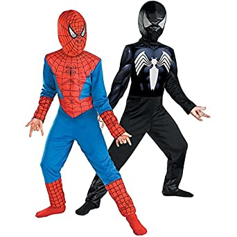 Reversible Spider-Man Red To Black Classic Costume, Child S(4-6)