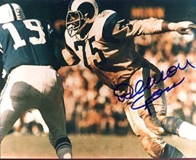 Deacon Jones (Football HOF) Autographed/ Original Signed 8x10 Color Action-photo - Deacon Jones Was One of the VERY Best Defensive Players in Football History - He Played for the Los Angeles Rams, San Diego Chargers and Washington Redskins From 1961 to 19