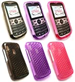 Emartbuy® Alcatel OT-800 Bundle Pack of 3 Hexagon Pattern Gel Skin Cover Hot Pink, Purple and Black