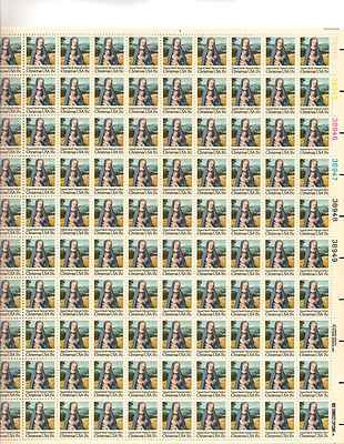 Gerard David Christmas Sheet of 100 x 15 Cent US Postage Stamps NEW Scot 1799