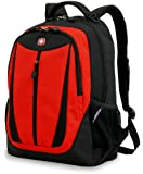 SwissGear Lightweight Feature Laptop Computer Backpack SA3077 (Black/Red) Fits Most 15 Inch Laptops