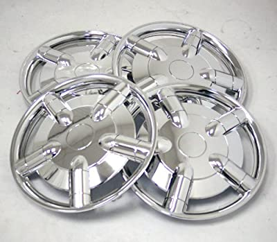 TuningPros WSC-021C15 Chrome Hubcaps Wheel Skin Cover 15-Inches Silver Set of 4
