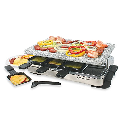 Swissmar 8-Person Stelvio Raclette Party Grill with Granite Stone (Raclette Stelvio compare prices)