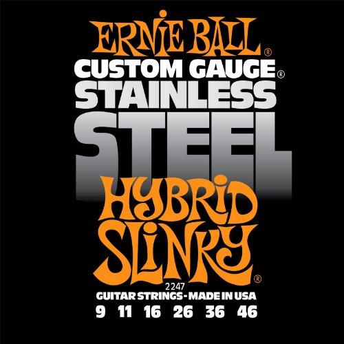 Ernie Ball 2247 Stainless Steel Hybrid Slinky String Set (09 - 46)