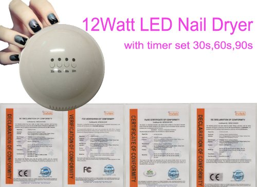 Perfect Beauty Tool!!! Belle® Brand New 12 Watt LED Nail Dryer --- Low Cost Use and Fast Dry Time: About 30-90 Seconds with the Use of LED Nail Gel