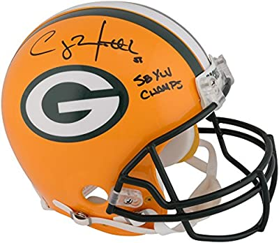 "Clay Matthews Green Bay Packers Autographed Riddell Pro-Line Helmet with ""SB XLV Champs"" Inscription - Fanatics Authentic Certified"