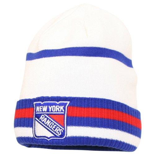 Reebok NHL Striped Cuffed Winter Knit Hat - New York Rangers at Amazon.com