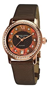 Frederique Constant Women's FC303CHD2PD4 Ladies Automatic Brown Diamond Dial Watch