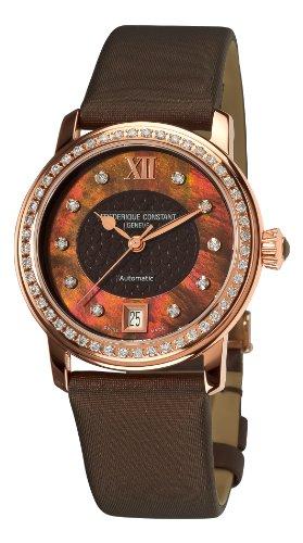 Frederique Constant Women's FC303CHD2PD4 Ladies Automatic Brown Diamond Dial Watch