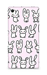 Amez designer printed 3d premium high quality back case cover for Sony Xperia Z4 (bunny copy)