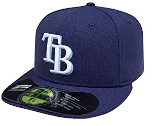 MLB Tampa Bay Rays Authentic On Field Game 59FIFTY Cap, Navy (6 7/8)