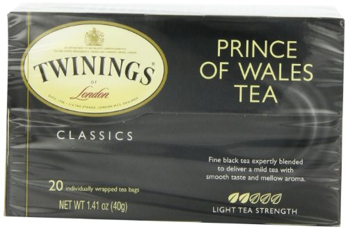 Twinings Prince of Wales Tea, Tea Bags, 20-Count Boxes (Pack of 6)