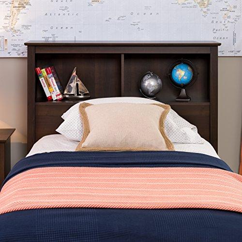 Espresso Twin Bookcase Headboard (Espresso Bed Twin compare prices)