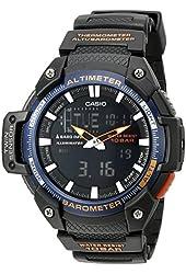 Casio Men's SGW-450H-2BCF Twin Sensor Analog-Digital Display Quartz Black Watch