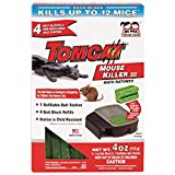 Tomcat Mouse Killer III (Kid Resistant Refillable Mouse Bait Station, Box w/ 4 Bait Blocks)