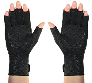 Thermoskin Premium Arthritic Gloves Pair, Black, Medium by Thermoskin