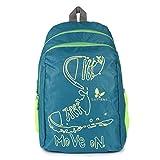 #7: Lutyens Polyester Green Lime School Bags (17 Liters) (Lutyens_197)