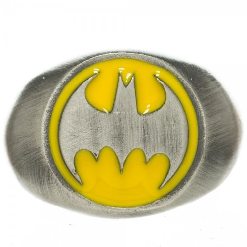 Ring - DC Comics - Batman - Logo Brushed Nickel M New Toys Anime fj0llybtm02