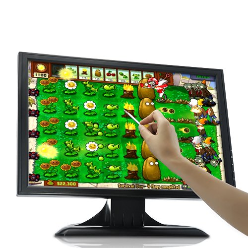 Koolertron 19 Inch 1440x900 Touchscreen LCD Monitor For Gaming (Angry Birds, Plants Vs Zombies) and POS Ordering KTV Art With VGA input