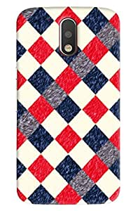 Blue Throat Box Made Of Check Box Feather Printed Designer Back Cover For Moto G4