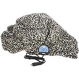 MAXSA Innovations 20012 Leopard Print Comfy Cruise Heated Travel Blanket