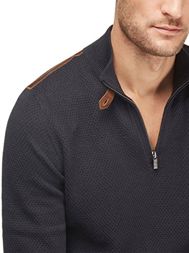 Massimo Dutti Men's Sweater with leather detailing 0943/321 (Large) (Massimo Dutti Clothing compare prices)