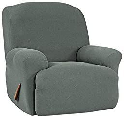 Sure Fit Simple Stretch Twill  - Recliner Slipcover  - Carbon Gray (SF44467)