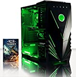 VIBOX Centre 4 - 4.0GHz Quad-Core, GTX 750, Desktop Gaming PC, Gamer Computer with WarThunder Game Bundle, Neon Green LED Internal Lighting Kit PLUS a Lifetime Warranty Included* (New 3.8GHz (4.0GHz Turbo) AMD FX Quad-Core CPU Processor, 1GB Nvidia Geforce GTX 750 Graphics Card, 1TB Hard Drive, 8GB 1600mhz High Speed RAM, Corsair Spec 01 Black Gamer Case, DVD-RW, No Operating System)