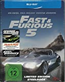 Fast & Furious Five (Limited Edition Steelbook) [Blu-ray]
