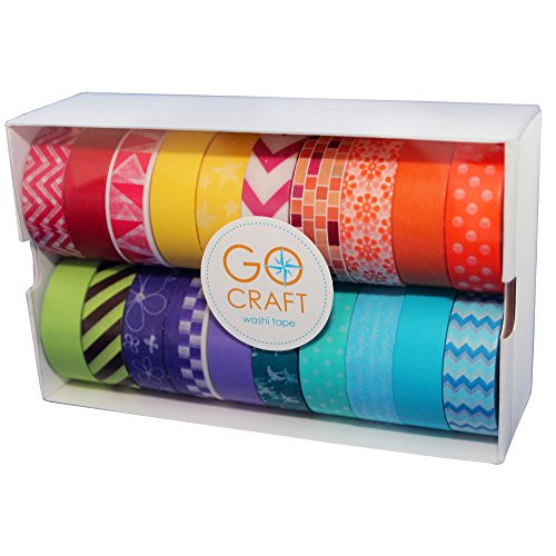 go-craft-washi-tape-bright-collection-set-of-20-rolls-colorful-wide-geometric-patterns-japanese-tape
