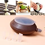 Macaron Silicone Baking Decorating Pen Icing Tips with 4 Nozzles Set