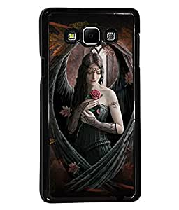 PRINTVISA Eagle Girl Premium Metallic Insert Back Case Cover for Samsung Galaxy A7 - A700F - D5740