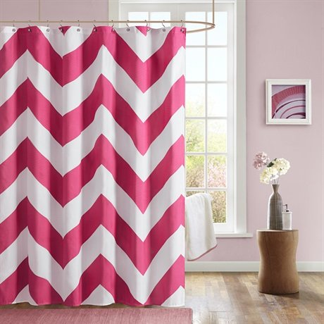 Mizone Libra Microfiber Shower Curtain - Pink - 72x72