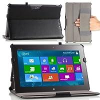 MoKo Slim-Fit Multi-angle Folio Cover Case for ASUS VivoTab Windows 8 RT TF600 / TF600T 10.1-inch Tablet, BLACK from MoKo
