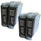 4 Black CiberDirect Compatible Ink Cartridges for use with Brother MFC-5860CN Printers.